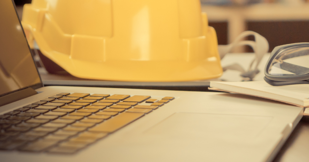 Computer and construction hard hat