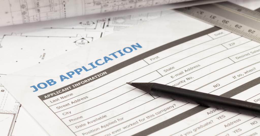 Construction job application form